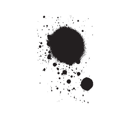 filth: splashed stain drop vector