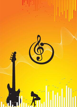 vector Music background Stock Vector - 5023828