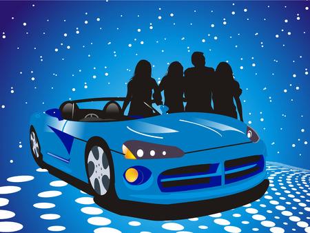 car showroom: ilustraciones vectoriales de coches Vectores