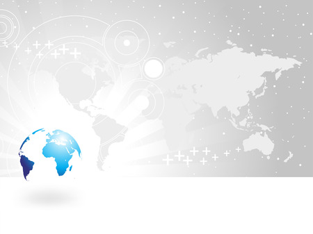 business world globe background Vector