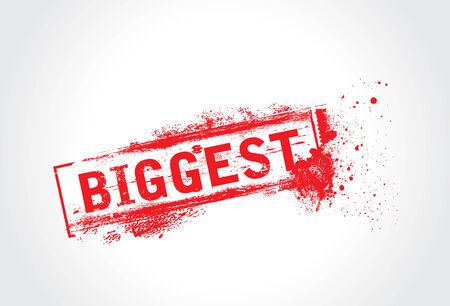 biggest: Biggest Grunge Text