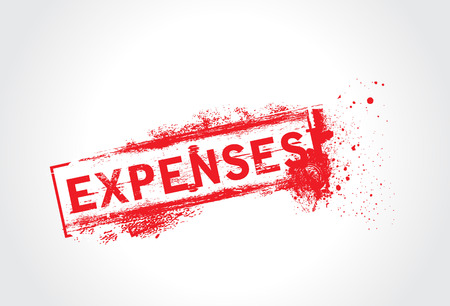 expenses: expenses Grunge Text Illustration