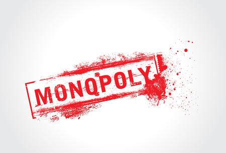 monopoly: Texto de grunge de monopolio  Vectores