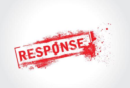 response: Response Grunge Text
