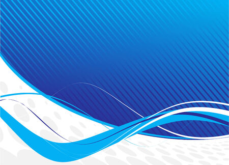 blue waves abstract design Vector