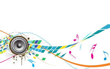 sonido: tema de la m�sica abstracta Vectores