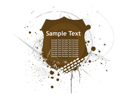 Abstract decoration label Vector