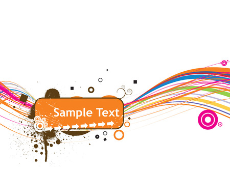 line sample text vector illustration isolated on white Vector