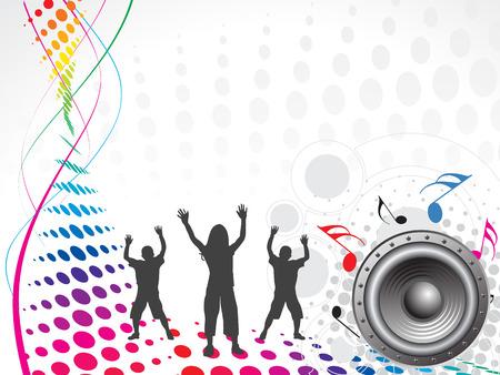 enfants dansant: enfants dansant sur fond Wave Music