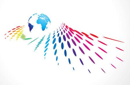 multicolor halftone background vector illustration Vector