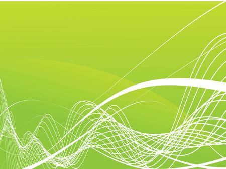 Abstract wave lines. Vector illustration Vector
