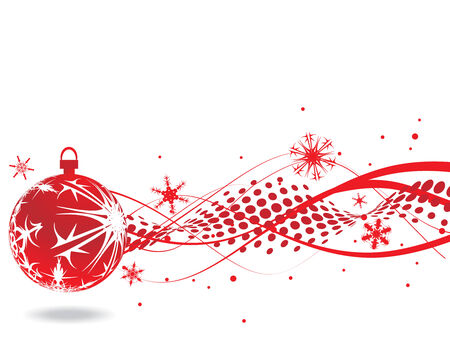 Abstract Christmas Background with Snowflakes. Vektor-Illustration.
