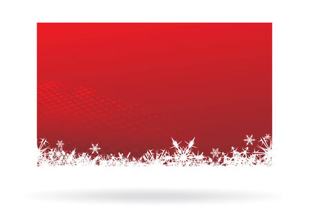 Abstract Christmas wave  background with snowflakes. Vector Illustration. Vector