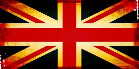 britain flag: grunge derretida bandera Gran Breta�a