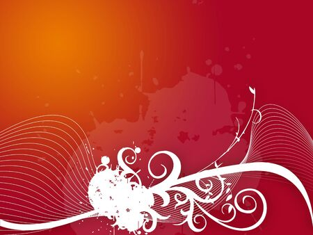 red background with white waves photo