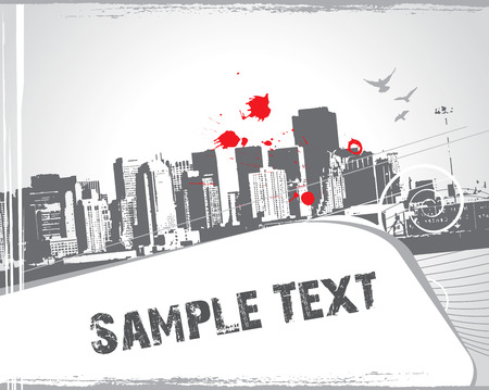 modern urban scene with sample text Stock Vector - 5119783