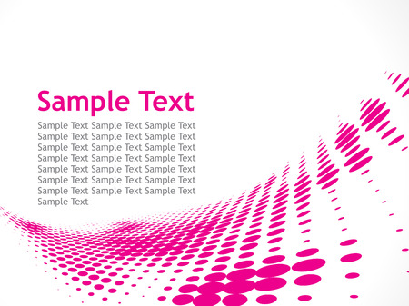 Sample Text  with Halftone Vector
