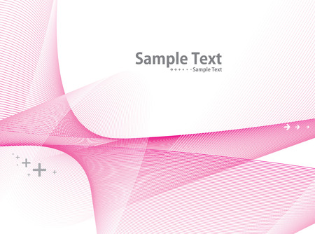 white wave line with sample text background Vector