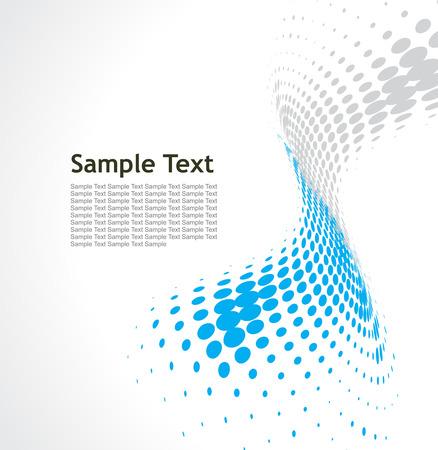 sample text: Resumen de onda media tinta de fondo con la l�nea de fondo de texto de ejemplo Vectores