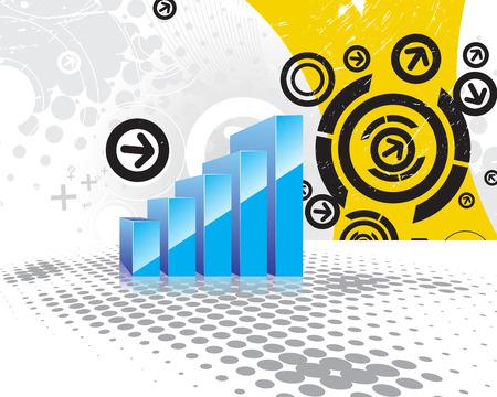 earnings: arrow Diagramm zeigt Anstieg der Gewinne oder Eink�nfte, Vektor-Illustration Illustration