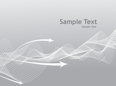 abstract wave arrow line background with gray theme Vector