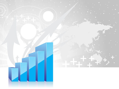fund world: arrow graph showing rise in profits or earnings . vector illustration Illustration