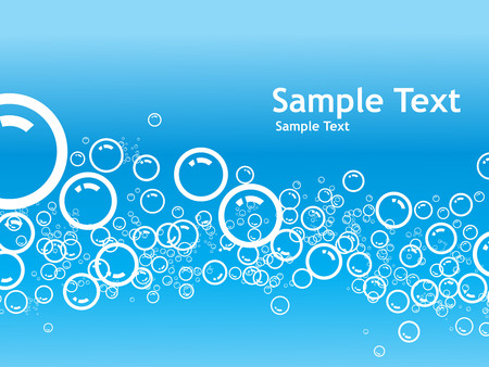 cool backgrounds: Vector Bubbles background with sample text Illustration