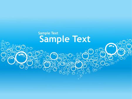 sample text: Vector de fondo burbujas con texto de ejemplo
