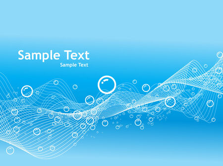 Vector Bubbles background with sample text Vector