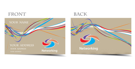 networking vector business card set, for more business card of this type please visit my gallery Vector