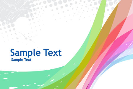 rainbow abstract composition with sample text background Vector