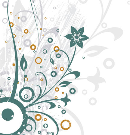 abstract grunge floral background ,vector illustration Vector