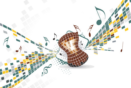 abstract mosaic vector composition with music theme Stock Vector - 5143544
