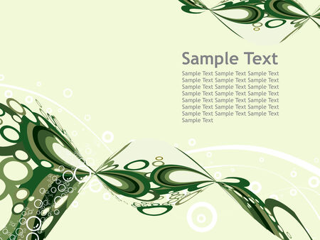 Classical wave wall-paper with a sample text pattern. Fragment Vector