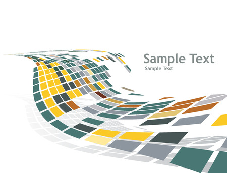 actual: abstract mosaic vector composition with sample text background