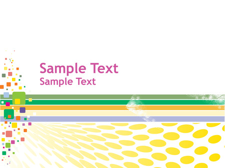abstract mosaic vector composition with multi color halftone background Vector