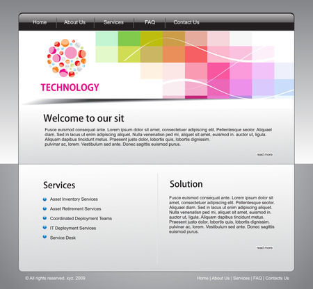 Vector technology website template for more template of this type please visit my gallery Stock Vector - 5143774