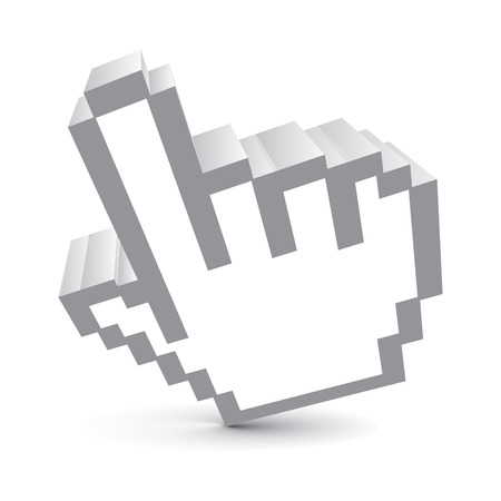 3d vector hand mouse symbol Vector
