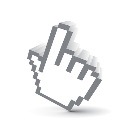 3d vector hand mouse symbol Stock Vector - 5143762