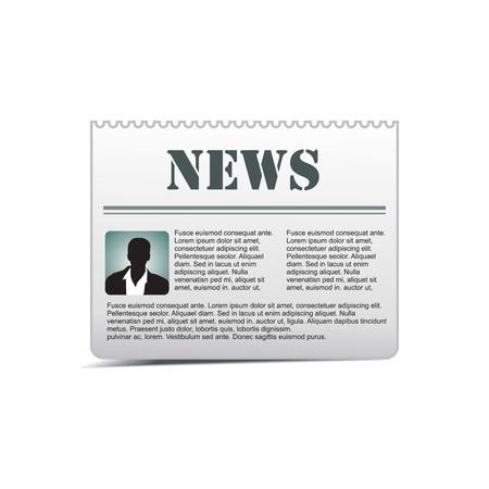 vector newspaper icon Stock Vector - 5143772