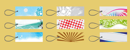diffrent types of new gift tag set Stock Vector - 5143781