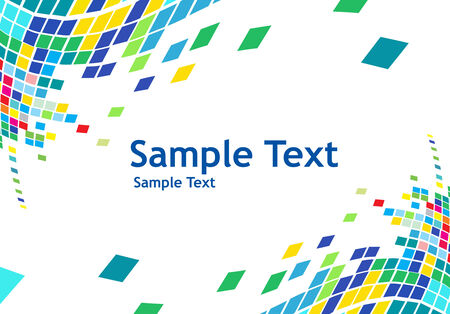 abstract mosaic vector composition with sample text background Stock Vector - 5143787