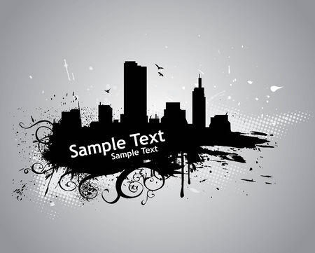 Grunge urban City with sample text Vector