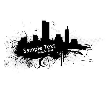 sample text: Grunge urabn ciudad con texto de ejemplo Vectores