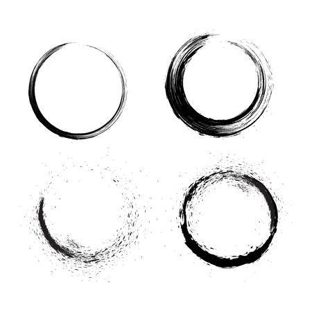 Grunge brushes line circle