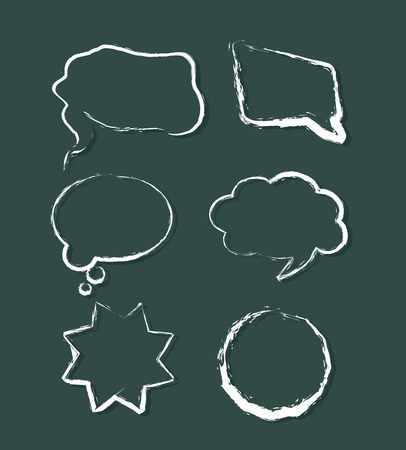Grunge Vector Speech Balloons Vector