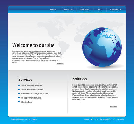 vector web template for more template of this type Vector