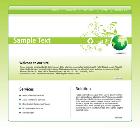 Vector website template for more template of this type please visit my gallery Vector