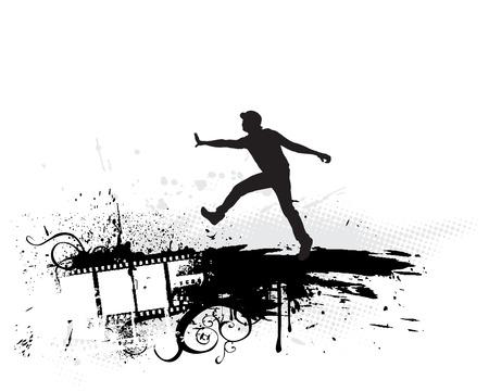 urban grunge film concept vector background Vector