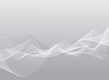 abstract vector background with wave lines Vector